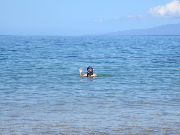 Laura snorkeling