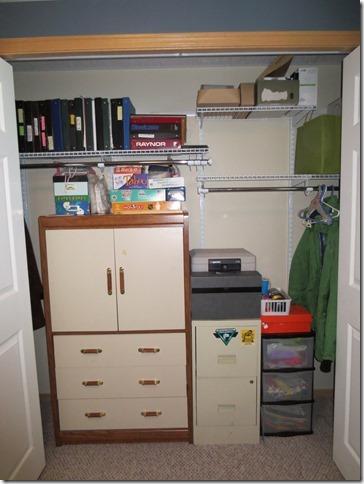 closet organizing after