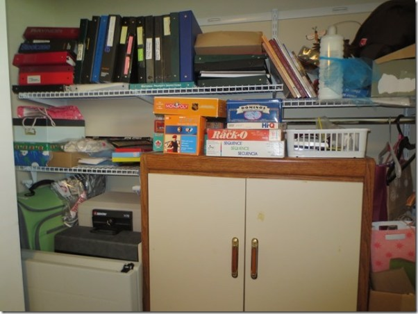 closet organizing before