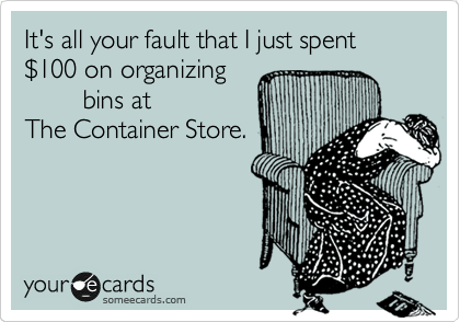 It's what organizing junkies do!