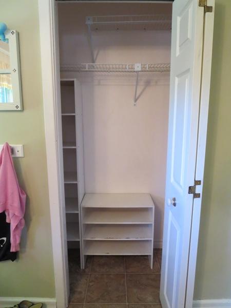 emptied entryway closet