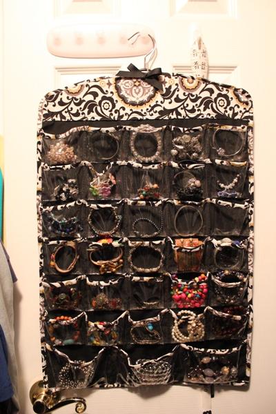 jewelry storage on back of door