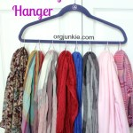 Organize Your Scarves & Hats with Shower Hooks ~ Day #22