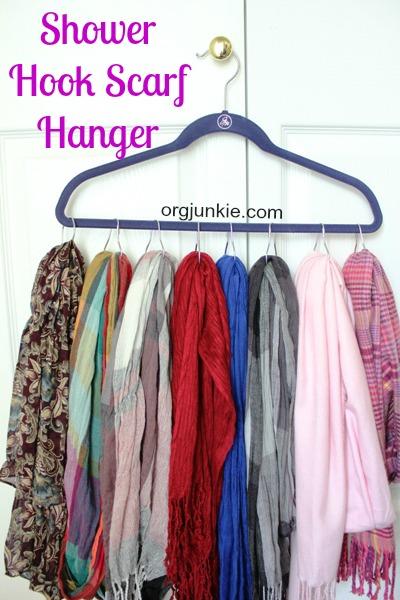 Shower Hook Scarf Hanger