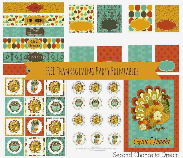 Thanksgiving printables 1