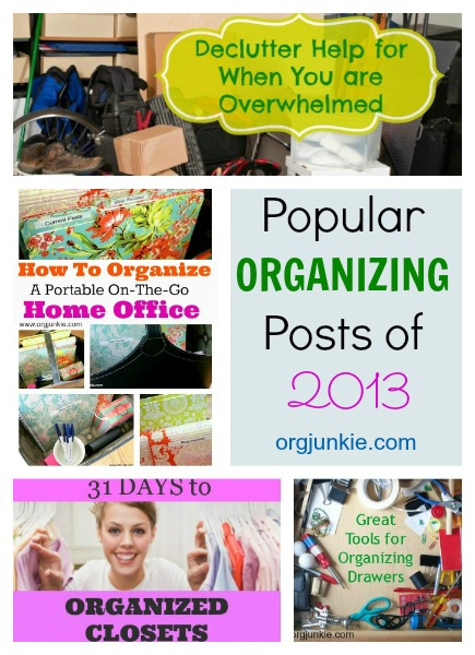 Popular Organizing Posts of 2013