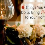 6 Things You Can Do to Bring Peace to Your Home