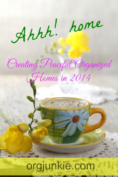 Creating Peaceful Organized Homes in 2014