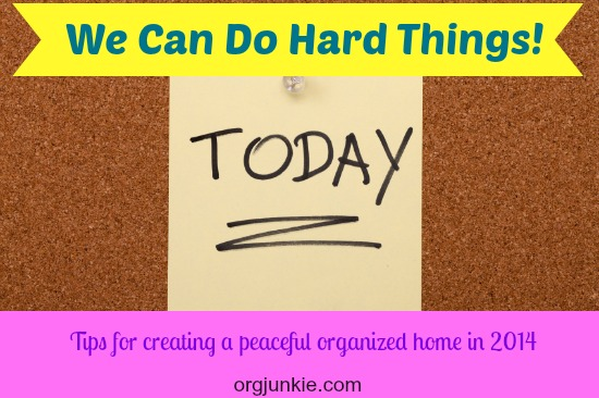 Tips for Creating a Peaceful Organized Home in 2014