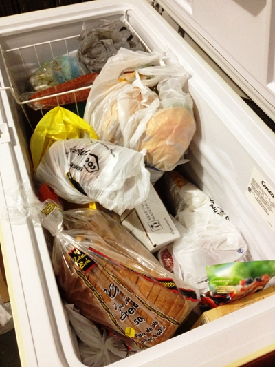 freezer organization before
