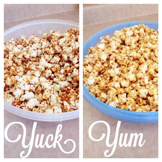 Caramel popcorn good and bad