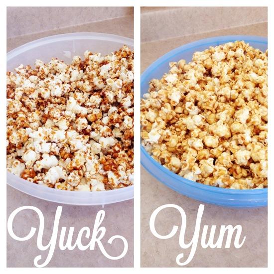 Caramel popcorn good and bad