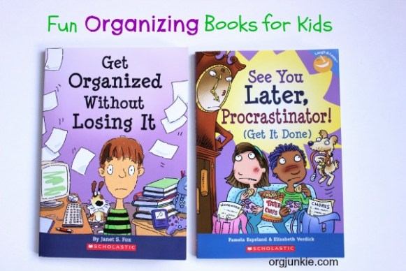 Fun Organizing Books for Kids at orgjunkie.com