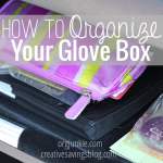 How to Organize Your Glove Box