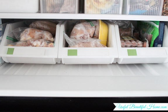 Just perfect for organizing freezer contents of a top freezer