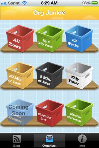 The Organizing Junkie Organizing App