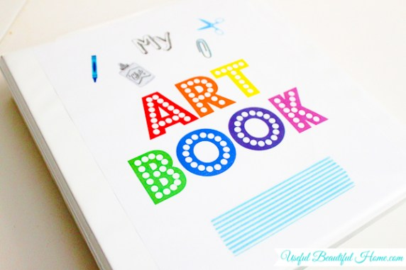 Create an Art Book to organize your child's take-home papers