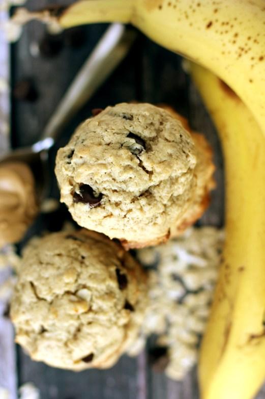 peanut butter chocolate chip banana oatmeal cookies 2