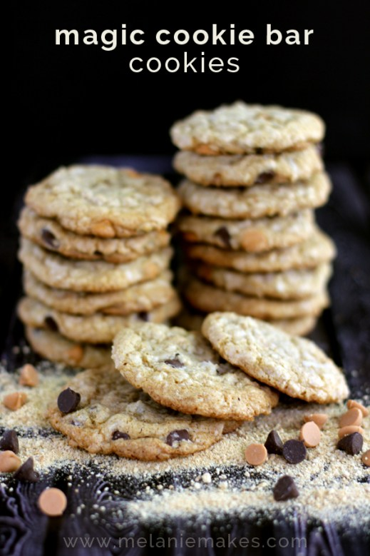 magic cookie bar cookies recipe at orgjunkie.com