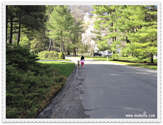 walking with my daughter