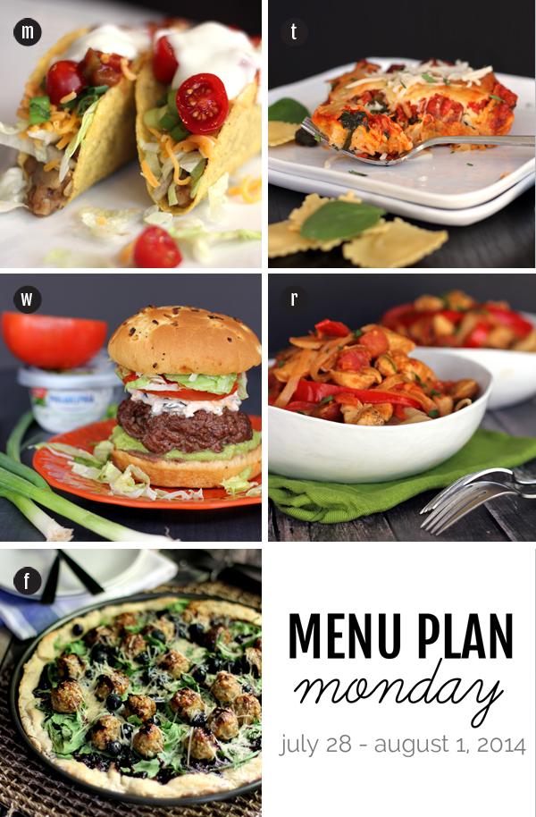 Menu Plan Monday for July 28th