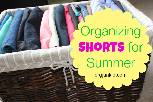 Organizing Shorts For Summer
