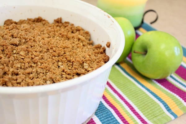 Gluten Free Apple Crisp right out of oven