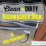 Clean or Dirty Dishwasher Sign ~ Free Printable!