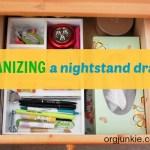 Quick Organizing Tasks: Nightstand Drawer