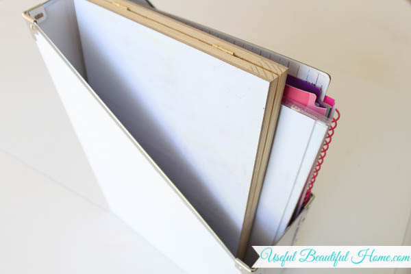 Teacher Supplies for homeschool store easily in a magazine holder from Ikea