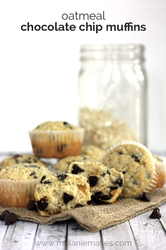 oatmeal chocolate chip muffins recipe at orgjunkie.com
