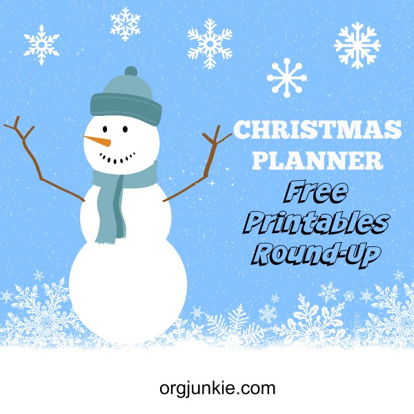Christmas Planner Free Printables Round-Up at orgjunkie.com