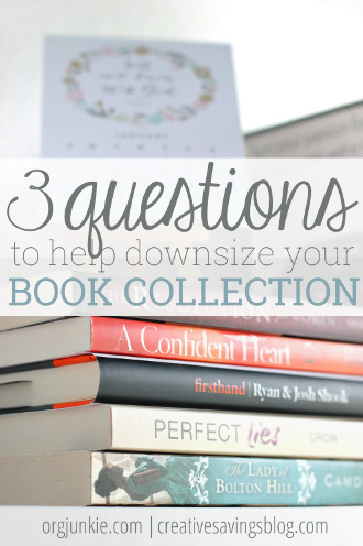 3 Questions to Help Downsize Your Book Collection