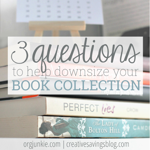 3 Questions to Help you downsize your book collection