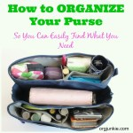 The Perfect Purse Organizer + Giveaway! (closed)
