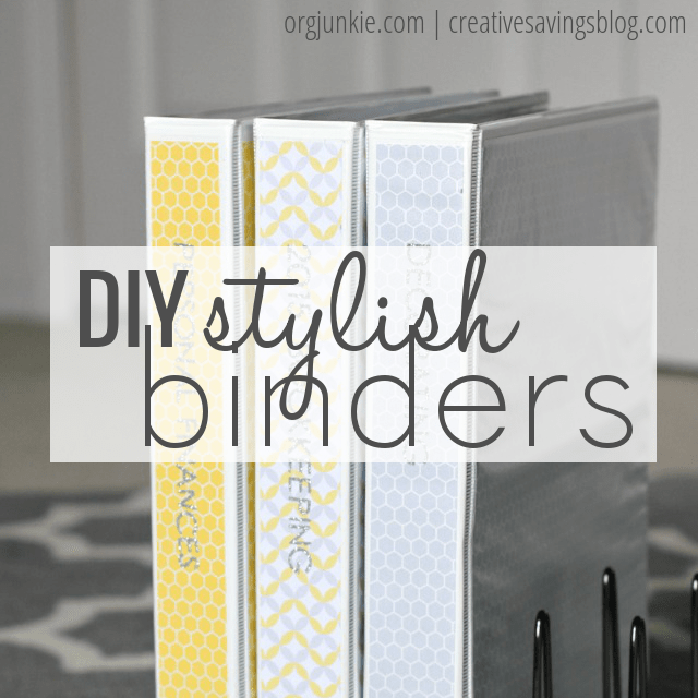 DIY Stylish Binders at I'm an Organizing Junkie