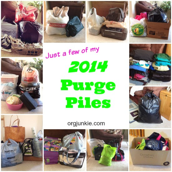 My 2014 Purge Piles