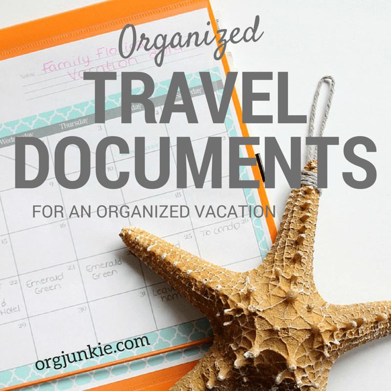 Organized Vacation Travel Documents
