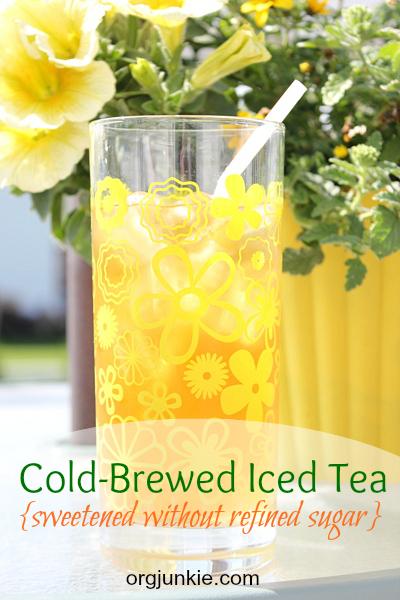 cold-brew iced tea with no sugar