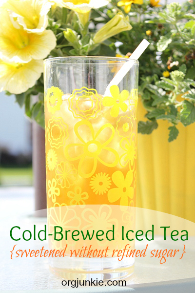 Cold-brewed iced tea
