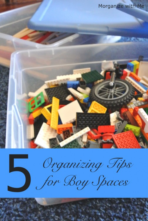 5 Organizing Tips for Boy Spaces at I'm an Organizing Junkie blog