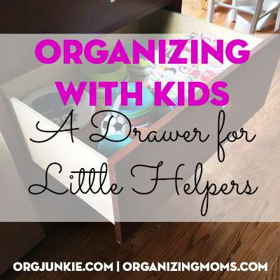 Organize your kids by creating a drawer for little helpers