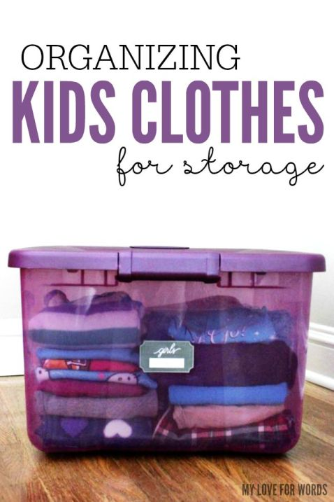 Organizing Kids Clothes for Storage