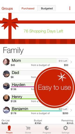Christmas gift planning app