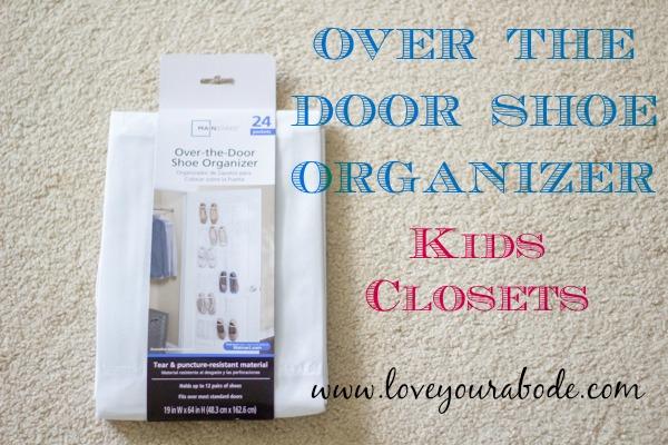 Over the Door Shoe Organizer for Kids Closet