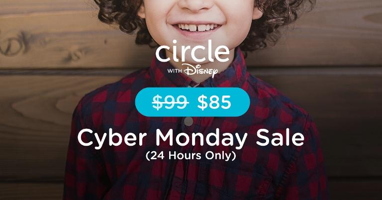 Cyber Monday Sale Circle with Disney