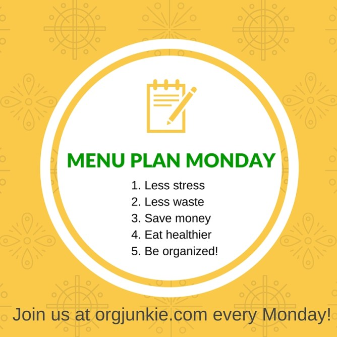 Menu Plan Monday for the week of March 19/18 - weekly dinner inspiration to help you get dinner on the table with less stress and chaos