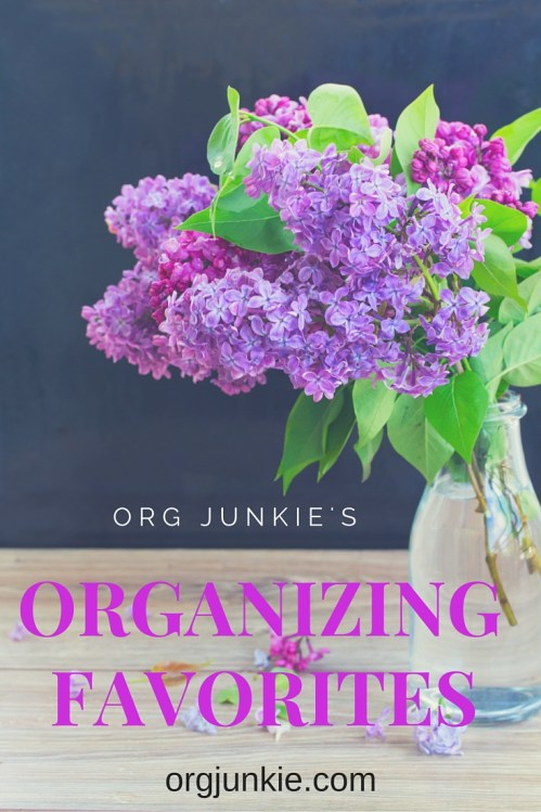 Org Junkie's Organizing Favorites and links for the week of March 11/16.