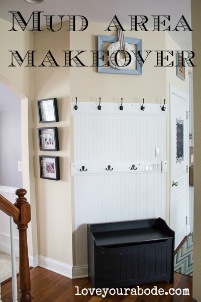 mud area makeover - make use of a small area for big organization potential!
