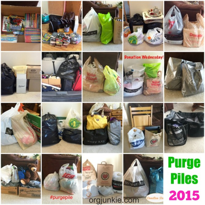 2015 Purge Piles at I'm an Organizing Junkie blog